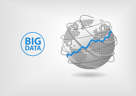 Big Data concept background for advanced analytics in a global economy.