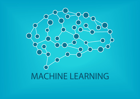 neuroscience: Machine learning concept. Vector illustration of Neural Network.