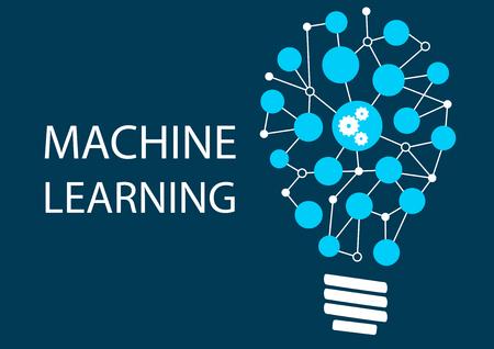 機械学習のコンセプト。革新的な新技術