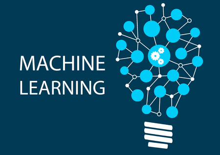 industrial machine: Machine learning concept. Innovative New Technology Illustration