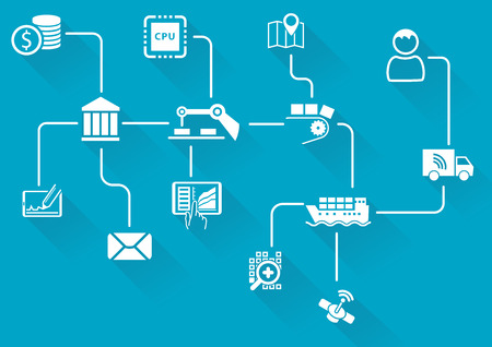 Digital Value Chain of wireless connected devices and objects.