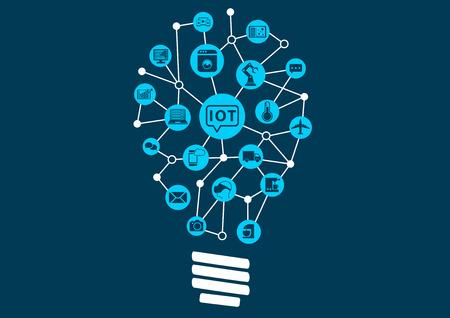 révolution numérique innovante de l'Internet des objets pour permettre de nouvelles et perturbatrices modèles d'affaires. Illustration