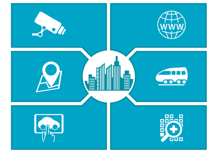 urbane: Smart City concept with icons.