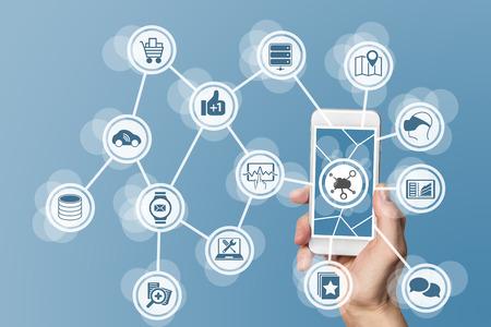infraestructura: Nube concepto de computaci�n en smartphone