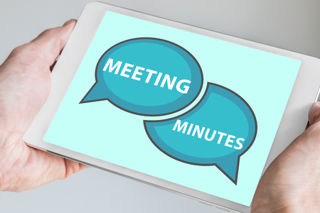 Meeting minutes concept on touch screen