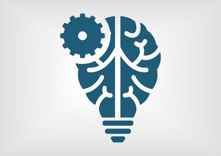 Intelligent apprentissage machine et artificielle icône de l'intelligence infographique Illustration