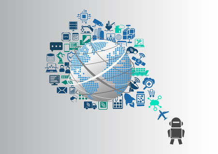 Smart machines and industrial internet of things (IOT) infographic