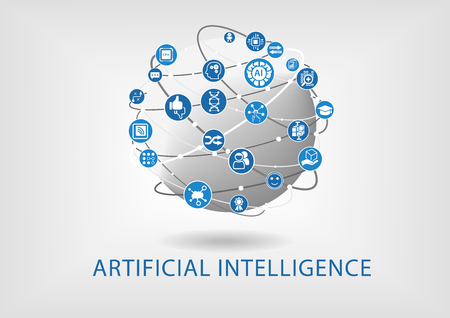 Vector infographic of artificial intelligence concept