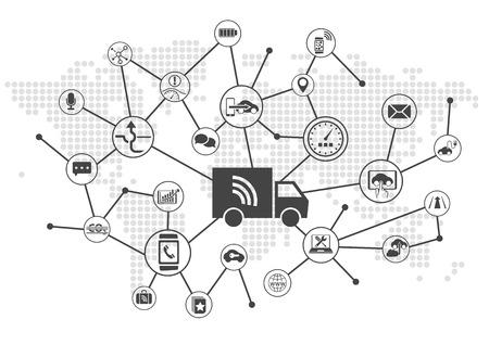 guida autonoma di camion come concetto di trasporto digitale