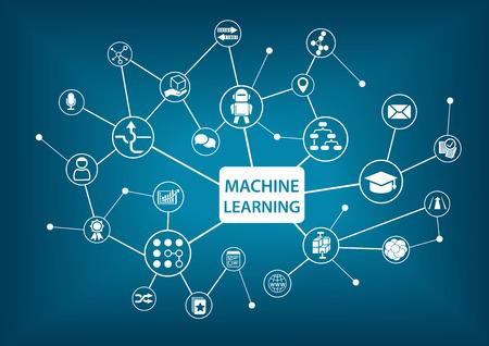 aprendizaje: El aprendizaje automático concepto de ilustración vectorial Vectores