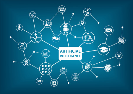 Sztuczna inteligencja (AI) infografika ilustracji wektorowych
