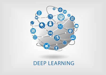Deep learning concept as vector illustration