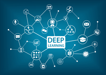 Deep learning infographic as vector illustration Stok Fotoğraf - 58514592
