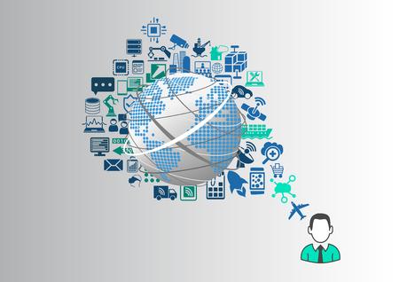 Internet des objets (IOT) et le concept de style de vie numérique