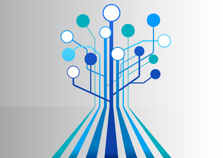 line graph: Vector illustration background with floating blue lines and tree structure as template for business presentations Illustration