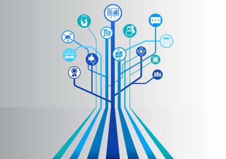 Big data infographic als vector illustratie
