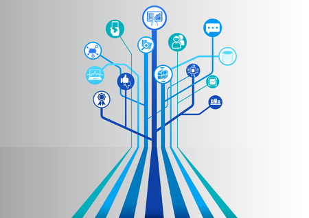 Big data infographic as vector illustration