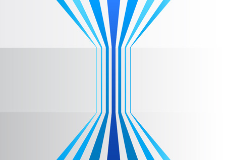 Abstract business background with blue vertical lines in a gray office Illustration