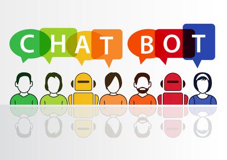 Chatbot infografika jako koncepcja sztucznej inteligencji