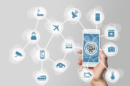 L'intelligence artificielle (AI) pour gérer Internet des réseaux de tout (IOT)