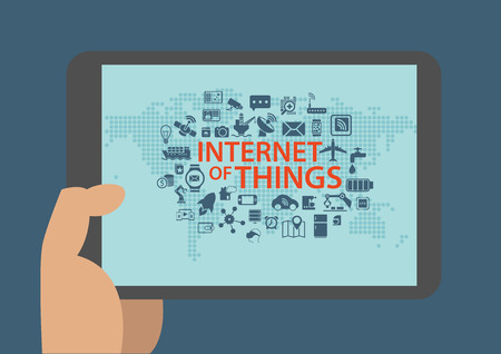 digitization: Internet of things vector infographic