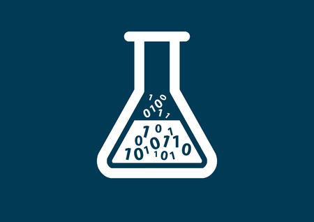 digitization: Digital healthcare and biotech symbol as illustration