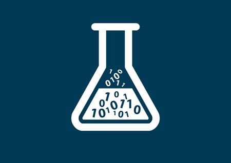 santé numérique et symbole de biotechnologie à titre d'illustration Vecteurs