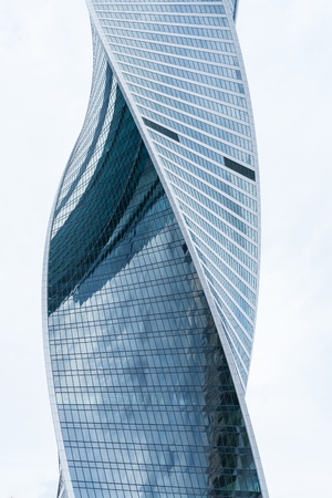 moscow city: MOSCOW - August 21, 2016: Twisted modern skyscraper in Moscow city on August 21, 2016 in Moscow, Russia.