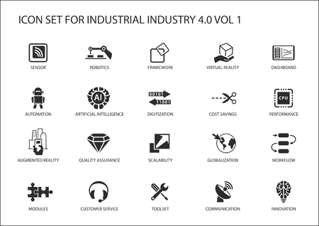 cost saving: Reusable icon set for industry 4.0