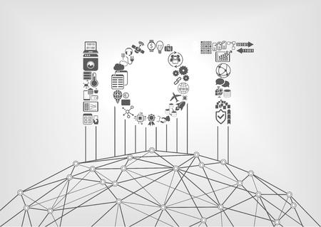 Concept Internet de choses avec texte IOT