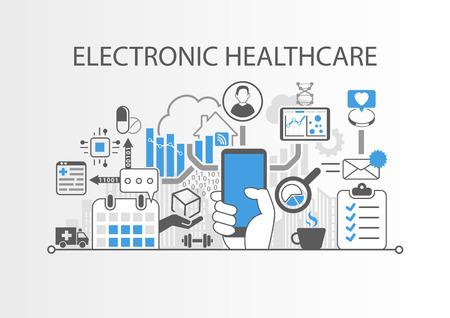 Elektronisch gezondheidszorg concept