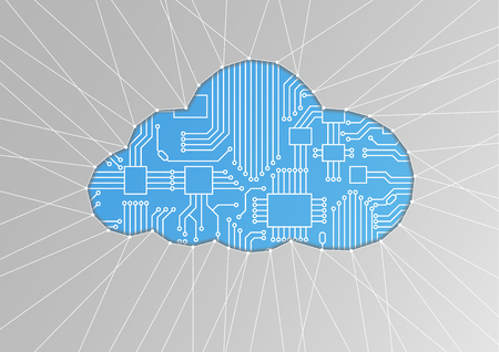 Cloud computing as abstract illustration. 向量圖像