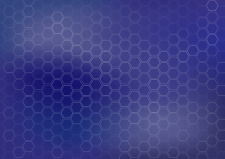 Generic dark blue vector background with hexagonal shapes