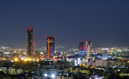 New downtown of Amman the capital of Jordan - Amman city skyline modern buildings and skyscrapers Banco de Imagens