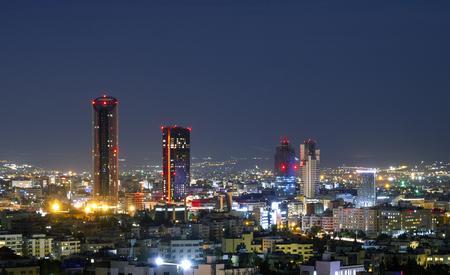 New downtown of Amman the capital of Jordan - Amman city skyline modern buildings and skyscrapers Foto de archivo