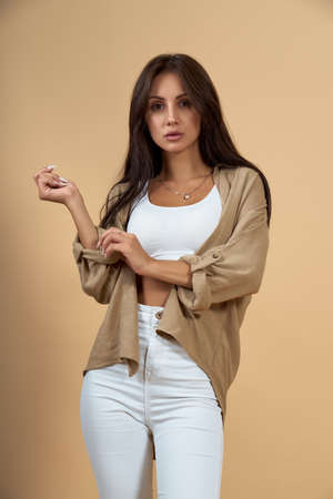 Portrait of woman wearing casual clothes Stock fotó