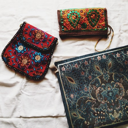 Embroidered bags from Saudi Arabia