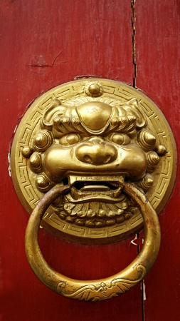 chinese temple: Chinese door