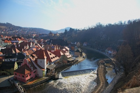 Panoramic view of Cesky Krumlov photo
