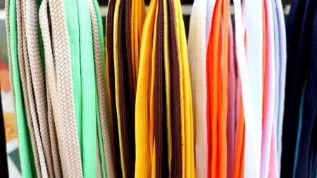 shoestrings: Many-coloured shoestrings