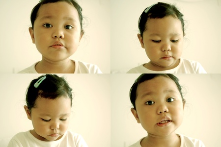 Young kid with facial expressions photo