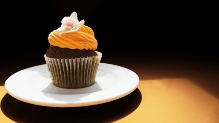 Cupcake de chocolate photo
