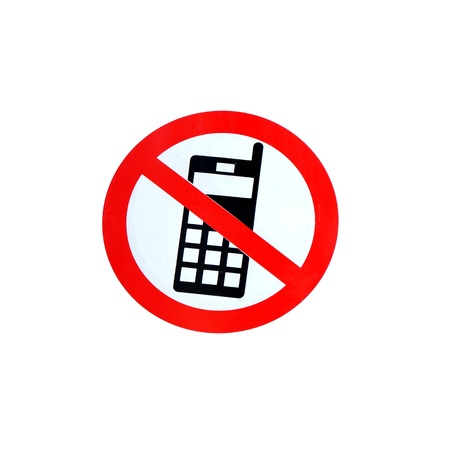 cell phones not allowed: No mobile phone sign Stock Photo
