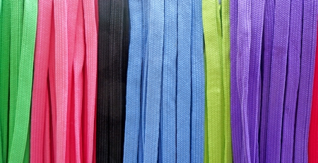 shoestring: colorful shoestring Stock Photo