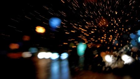 Night city street lights