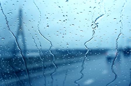 raindrop on car window