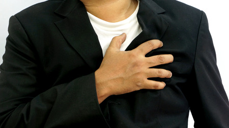 chest pain: Businessman Heart Attack in Isolated