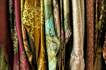 Malay traditional clothes hanging together background