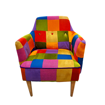 colorful armchair isolated on white