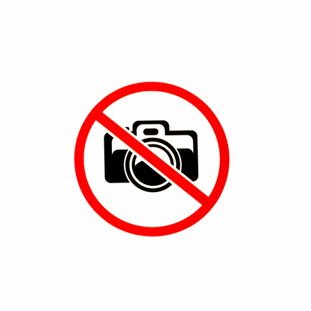 No photography allowed on white background